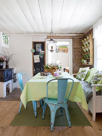 A vidéki otthon: Színes, vintage étkező..