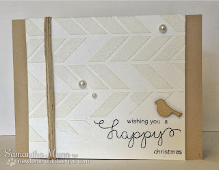 Happy Christmas Card by Samantha Mann for Newton's Nook Designs