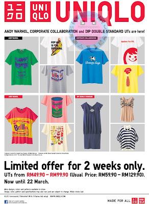 Uniqlo Promotion Sale Until 22 MAR 2012