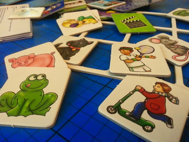 Can You Guess? game cards shown recycled card