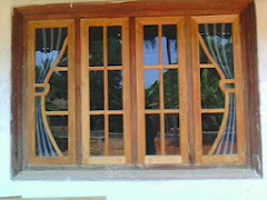 Carpenter work ideas and kerala style wooden decor for Window glass design in kerala