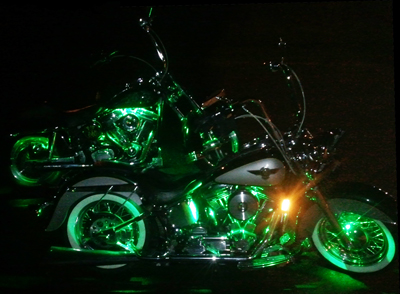 Here are the result of installing two sets of the Pivotal Powersports  Envy Green  color LED lighting kits on my friend and his wifeu0027s motorcycles. & Motorcycle LED Lighting Kits... Whatu0027s The Best? azcodes.com