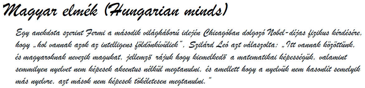 Magyar elmék (Hungarian minds)