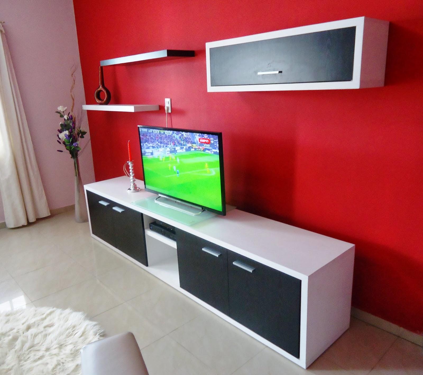 Muebles De Baño Flotantes: medida: Mueble para LCD, DVD y Home con alacenas y estantes flotantes