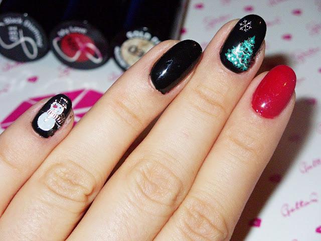 Moje świąteczne zdobienie paznokci :)