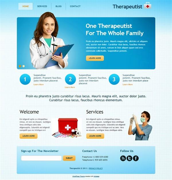Therapeutist - Free Wordpress Theme