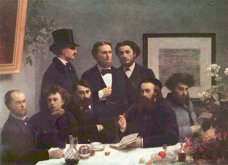 Henri Fantin-Latour - Verlaine and Rimbaud