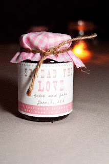 Frascos de mermelada regalo de boda