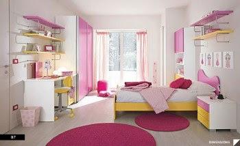 Desain Kamar Tidur Anak Pink Ceria