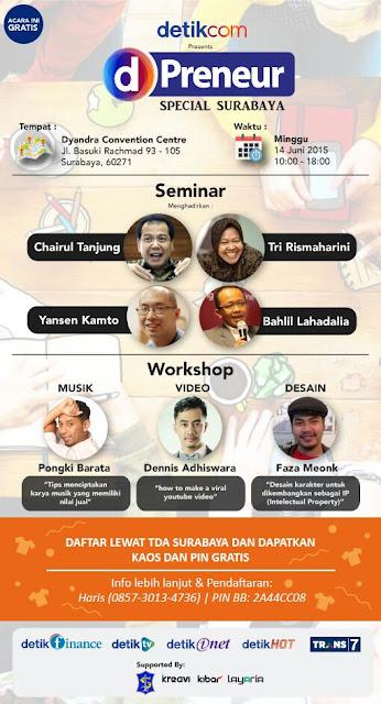 Event Gratis dPreneur Akan Digelar di Surabaya