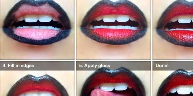 Makeup tutorial: 5 ombre lip
