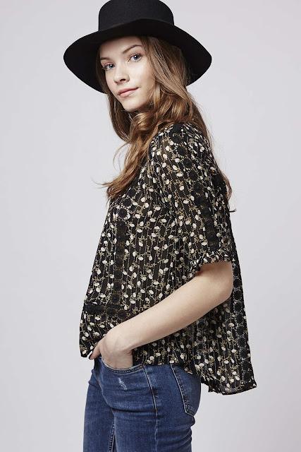 ditsy floral blouse topshop,