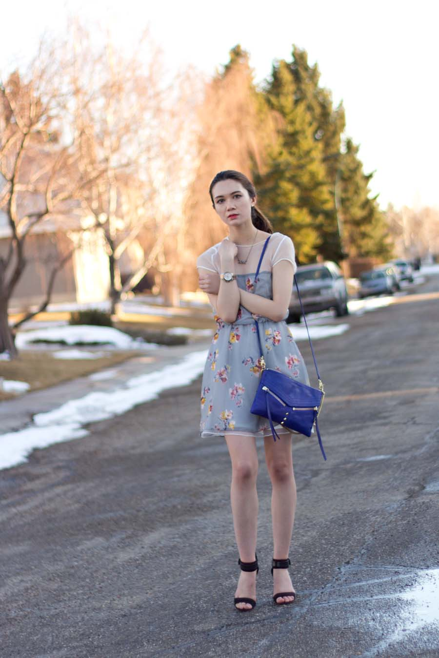 spring fashion, winter to spring fashion, sundress, summer dress, sheer dress, transitional style