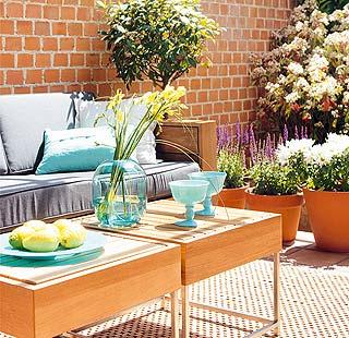 Terrazas con color si audrey levantara la cabeza for Ideas terrazas economicas