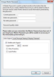 cara menggunakan master password pada browser