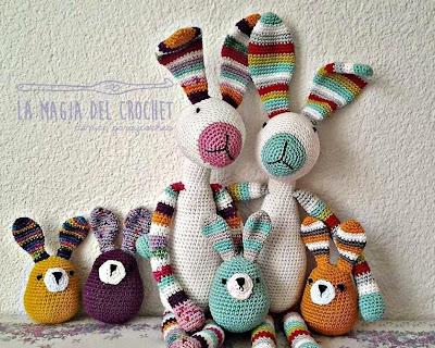 Amigurumis Conejos Paso A Paso : Patrones de amigurumi gratuitos de conejos manualidades