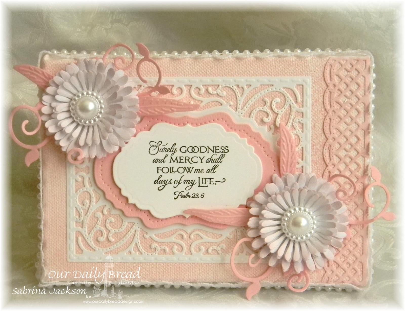 Stamps - Our Daily Bread Designs Cherry Blossom, ODBD Custom Asters and Leaves Die, ODBD Custom Beautiful Borders Dies, ODBD Custom Vintage Flourish Pattern Die, ODBD Custom Vintage Labels Die, ODBD Custom Fancy Foliage Die