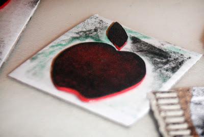 DIY - Tampons pomme en papier mousse