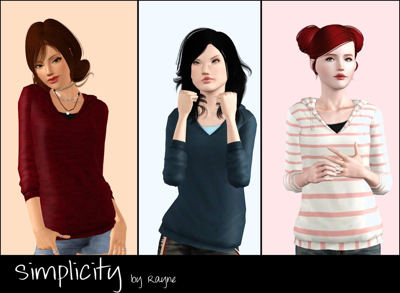 My Sims 3 Blog: Rayne\'s Clothing Now for Teen Females