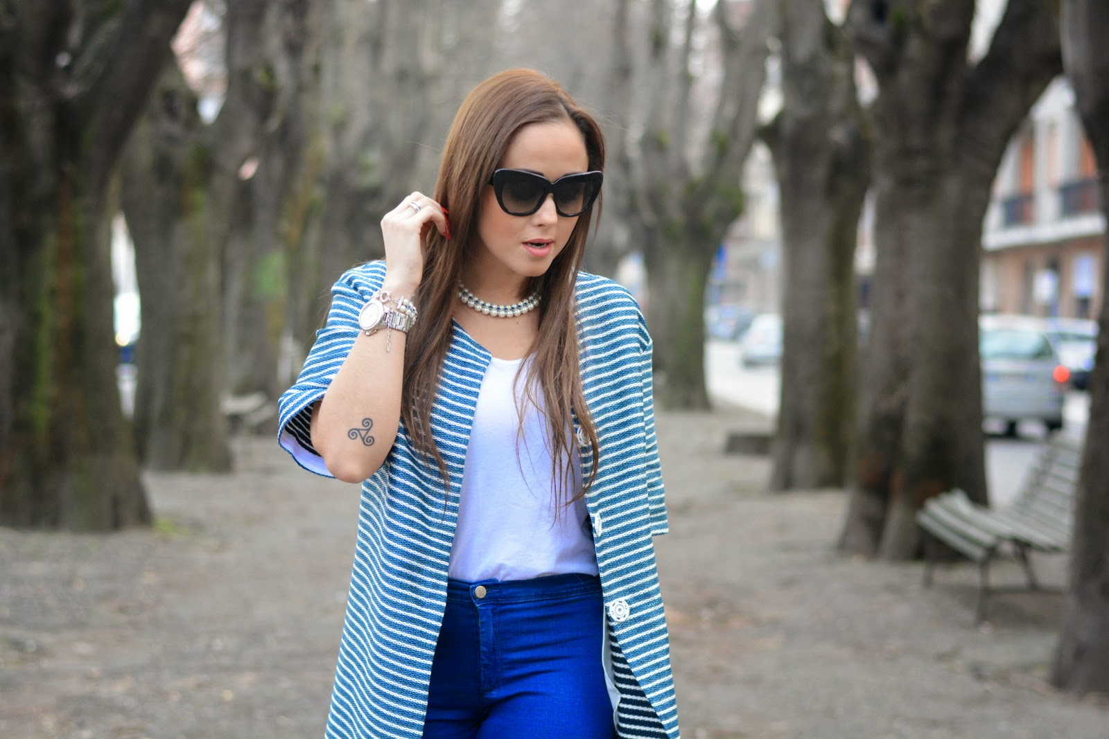 cristiano burani coat , white and blue , street style blog , street style fashion , day outfits
