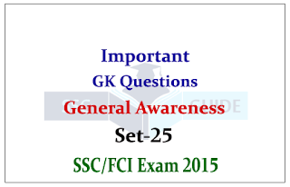 General Awareness Quiz – For SSC CHSL / FCI Exams