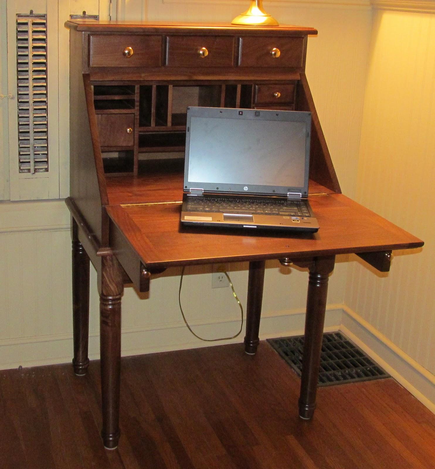 Tom Kies Woodworks Slant Top Secretary Laptop puter Desk