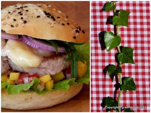 ... : Burger-Mania: Burger mit Tomaten-Mango-Salsa, Münster und