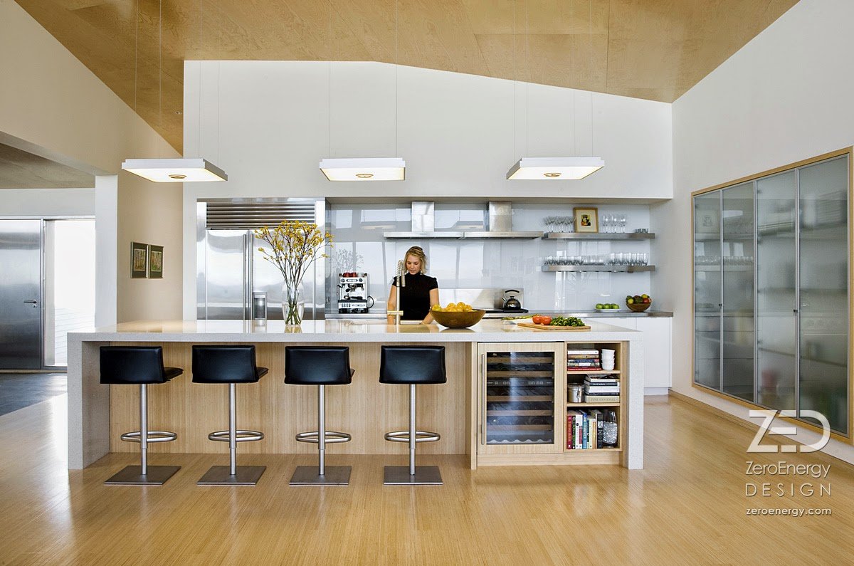 Kitchen with natural lighting