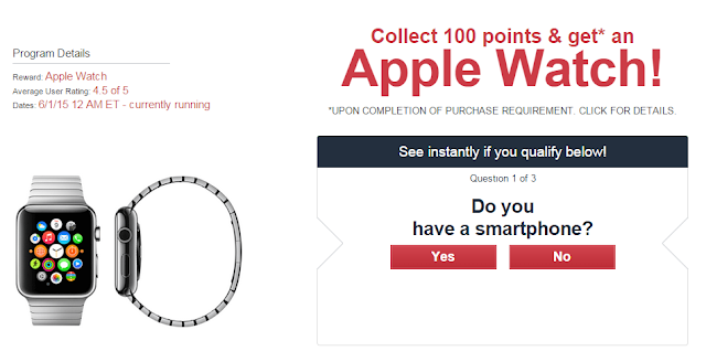 Collect 100 points and get an Apple Watch