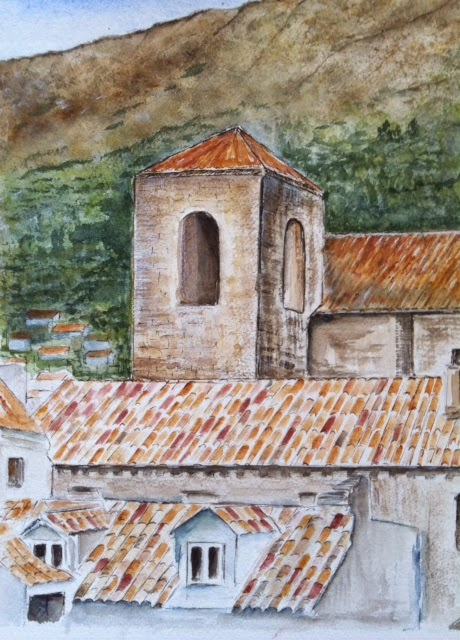 Croatia watercolor