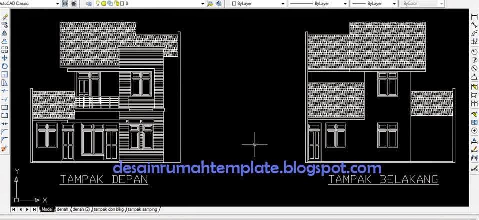 Template Desain Rumah Tipe   Lantai Desain Rumah Template