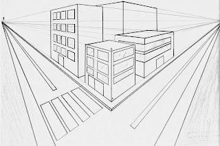 Arte con la prof la prospettiva centrale for Disegni di case in prospettiva