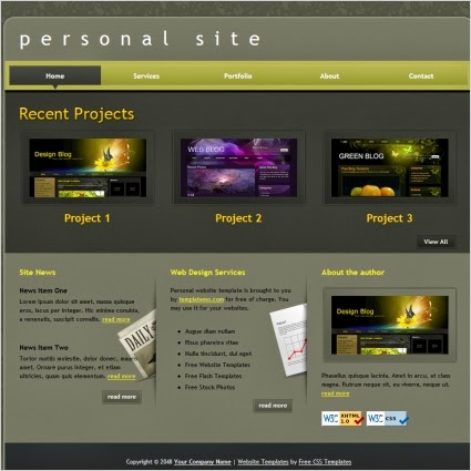 personal site gallery 3-column blogger template 2014 for blogger or blogspot