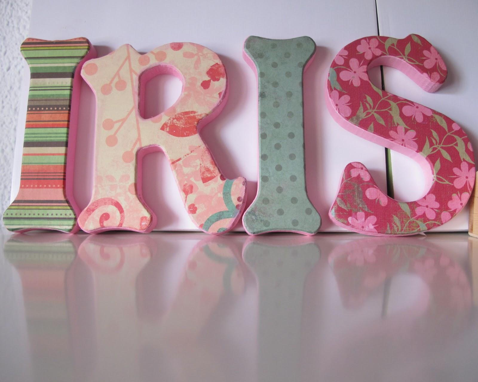 Letras decoradas de nombres imagui - Letras grandes decoradas ...