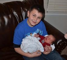 Tyler holding Bennett