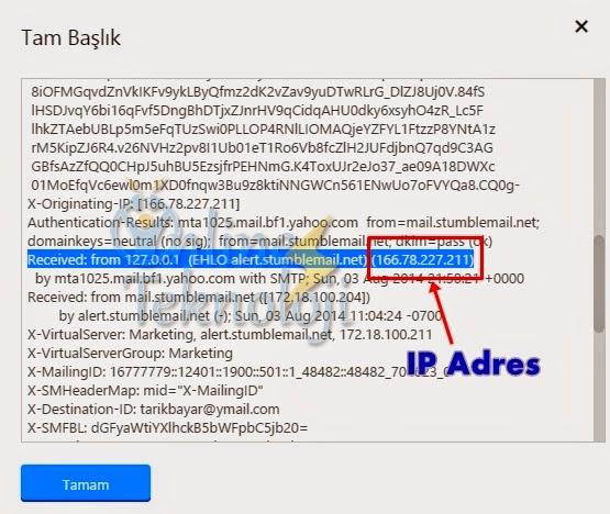 E-Posta'dan IP Adresi Nasıl Bulunur?