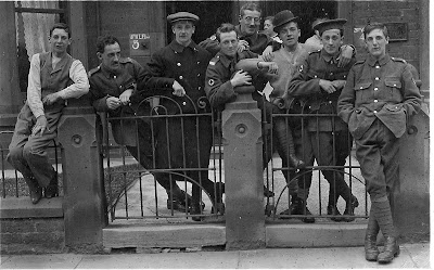 Picture of men of 3rd West Lancashire Field Ambulance, billeted at Blackpool