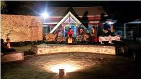 panggung kampung Rumah Dunia Golagong