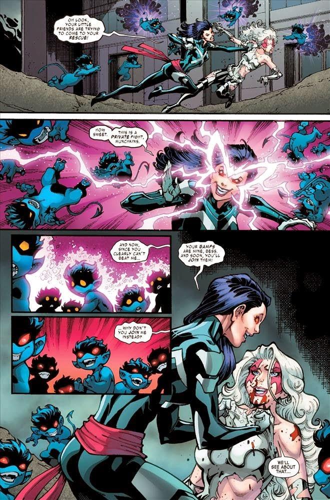 Psylocke attacks Bloody Bess
