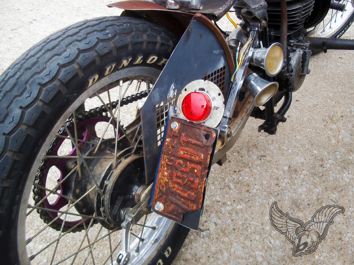 suzuki 125 rat bobber - brake light | blue star motorcycles