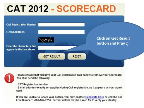 CAT Results 2012 