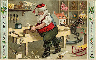 Christmas Santa post card Images