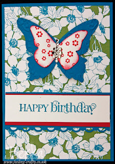 Beyond the Garden Butterfly Birthday Card