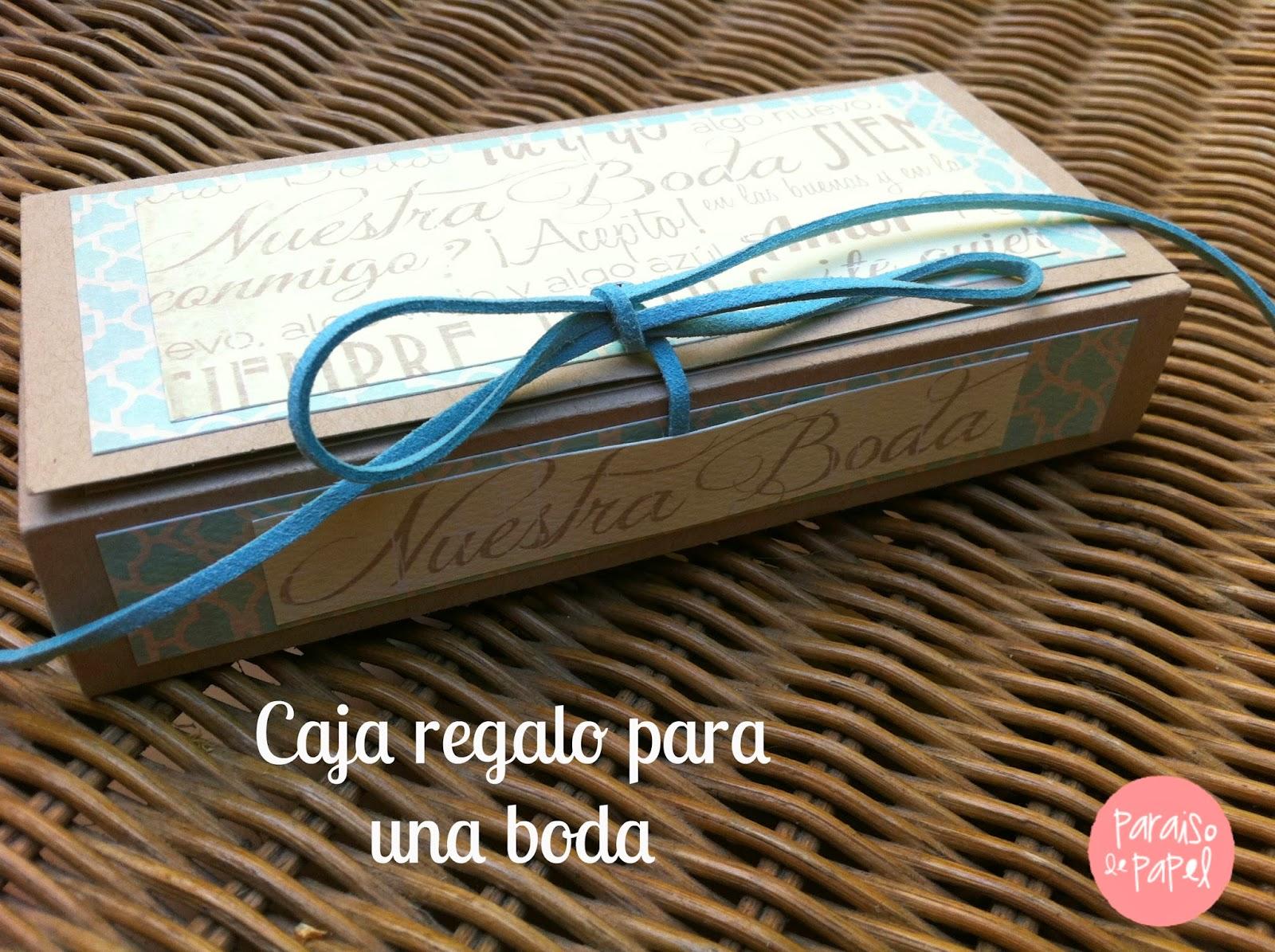 Caja de regalo de boda