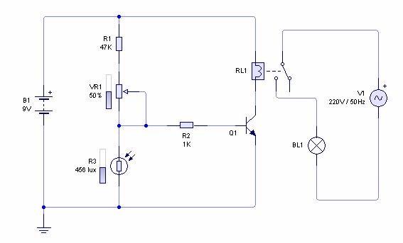 GO LOOK IMPORTANTBOOK: Light Sensor Circuit Diagram with Working ...