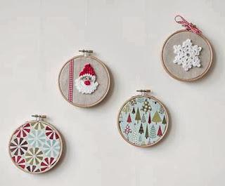 Christmas decoration with racks