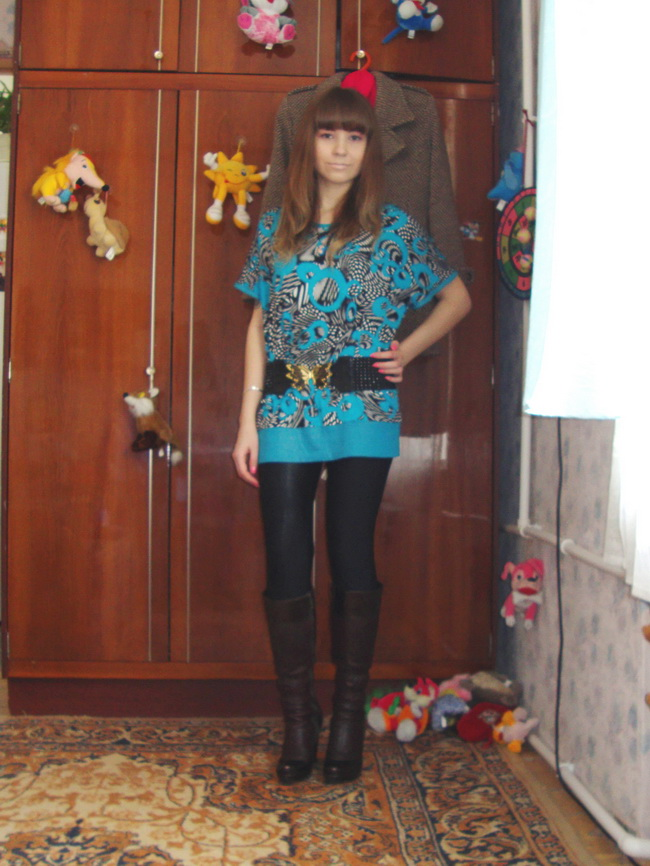 LIVE, Outfits, Blouses, Belts, Leggings, High Boots, negulesko13