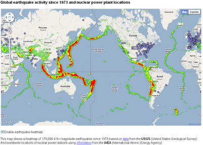 Earthquake Activity  & Nuclear Power Stations