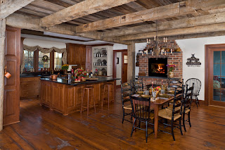 reclaimed timber frame kitchen