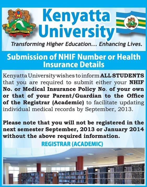 Haiya!! Kenyatta University students must do this for ADMISSION